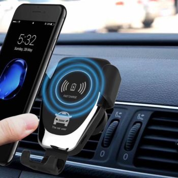 Carregador de Carro Sem Fio Premium Para Iphone e Samsung