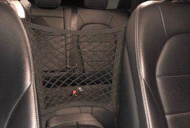 Suporte elástico para carro, bolsa de armazenamento com velcro, grade de protetor de criança para carro photo review